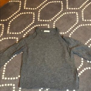 Gray wool cold shoulder sweater! Like new!